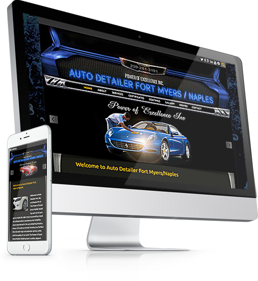 Website for Power Of Excellence at autodetailerfortmyers.com